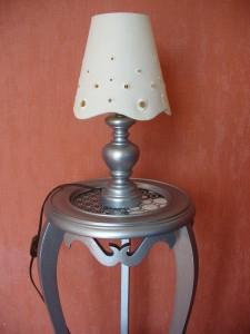 Reciclar una mesa y una lámpara