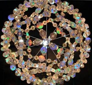 Lámpara de techo con CD