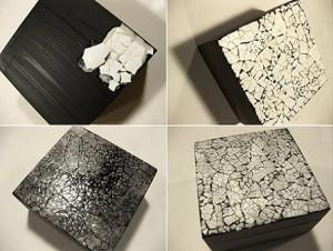 Caja hecha con cáscaras de huevo