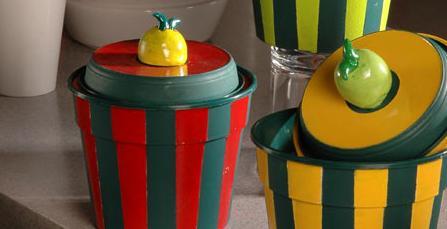 Reciclar maceteros para hacer tarros de cocina