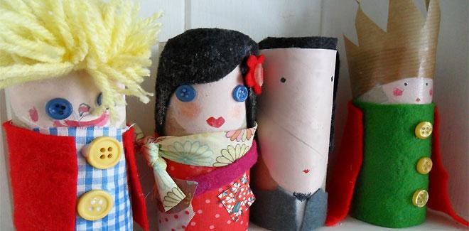 Marionetas con cartón reciclado