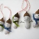 Adornos de Navidad: reciclar cáscaras de cacahuetes