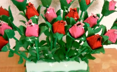 Regalos San Valentin Reciclados Ramos De Rosas Con Cartones De Huevo