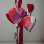 Retales de tela reciclados en adornos navideños