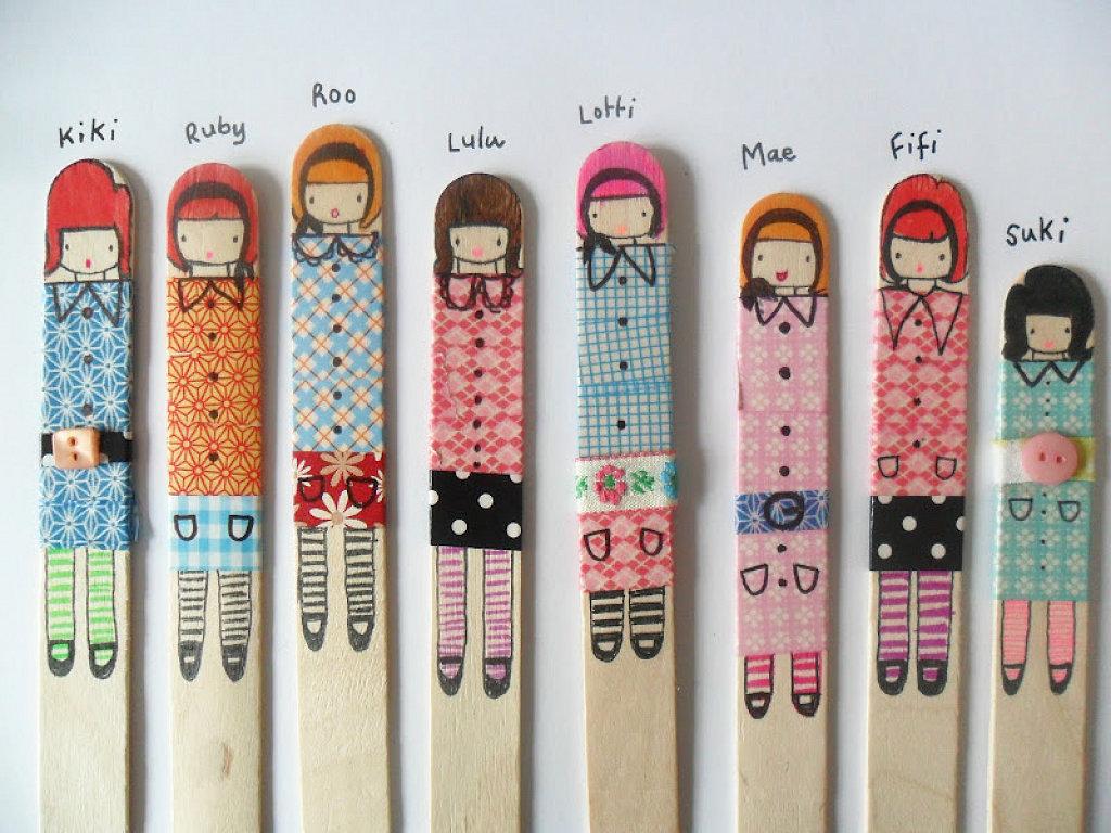 Marcapáginas para libros de muñecas