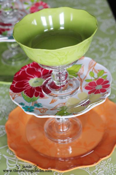 Reutilizar platos de porcelana en frutero