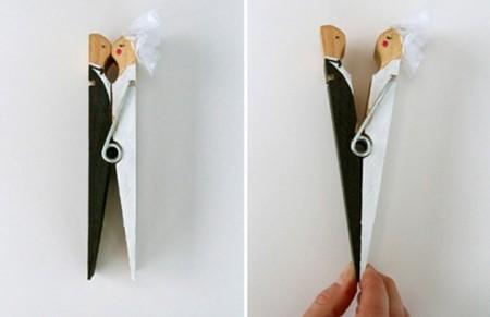 Detalles de boda con pinzas de ropa