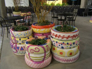 Maceteros de dise o exterior jardineras con ruedas de - Jardineras con ruedas ...