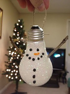 Como decorar bombillas para Navidad