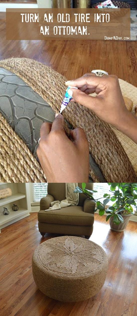 Reposapiés para sofás y sillones con rueda usada