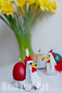 Soporte huevos microondas para niños con hueveras de cartón