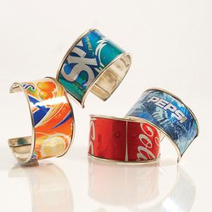 Bisuter a ecol gica como hacer pulseras o brazaletes con - Manualidades de cosas recicladas ...