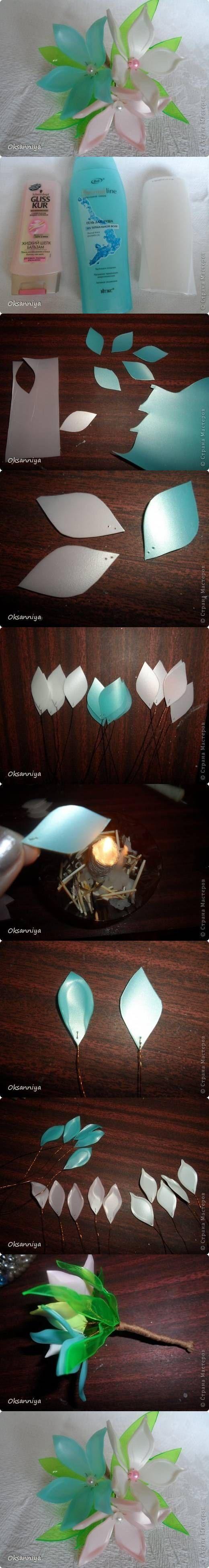 Cómo hacer flores con envases plásticos
