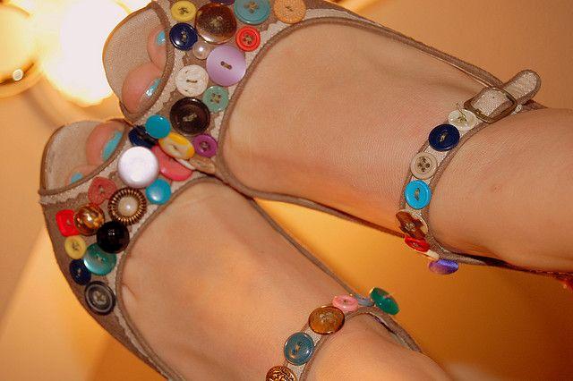 Sandalias de verano 2014 con botones