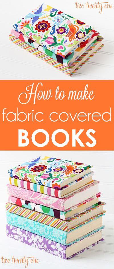 Cubre libros con retazos de tela vieja