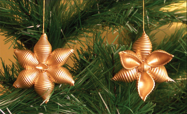Manualidades infantiles con pasta rancia estrella de Navidad