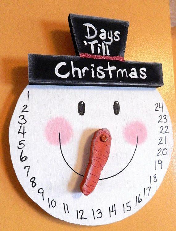 Cuenta atrás para Navidad con plato de papel