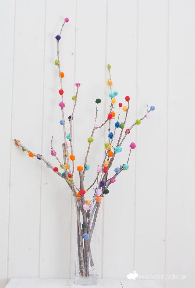 Ramos decorativos con ramas de árboles