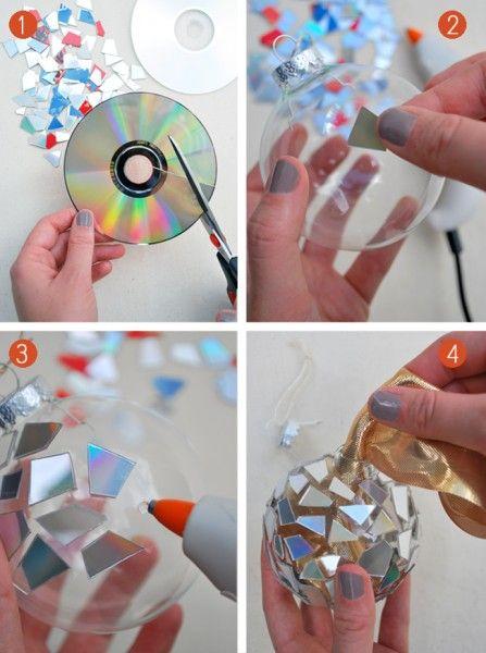 Bolas árbol de Navidad con cd