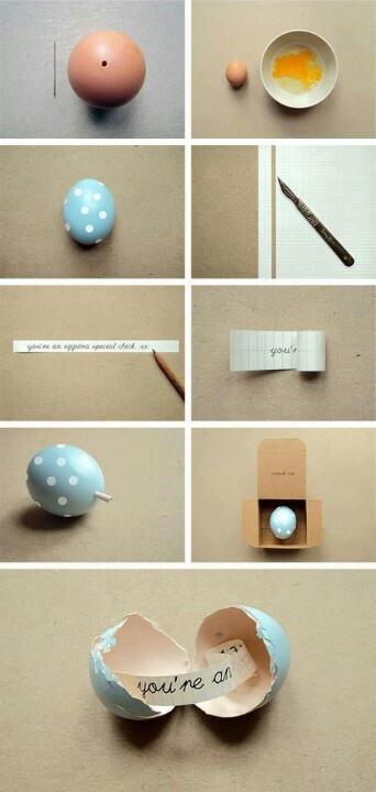 Reutilizar huevo sorpresa con mensaje