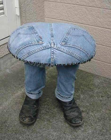 C mo hacer banquetas de cocina con pantalones vaqueros rotos - Decorar pantalones vaqueros ...