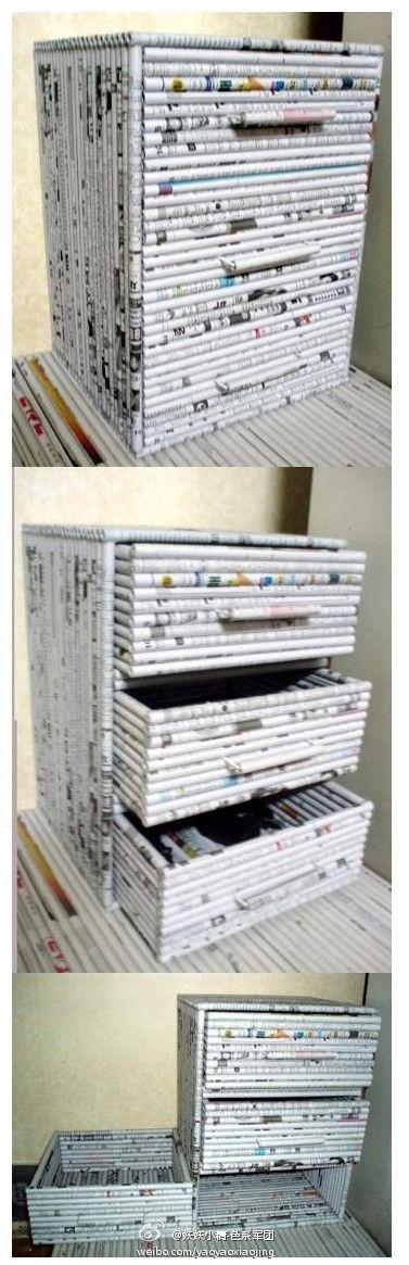 Cajones caseros con revistas viejas