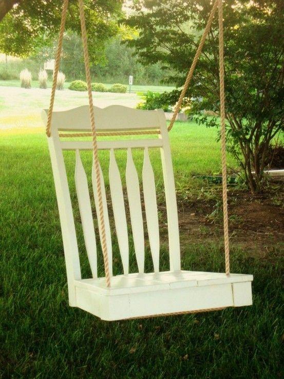 Ideas para reutilizar sillas rotas en columpios para jardín