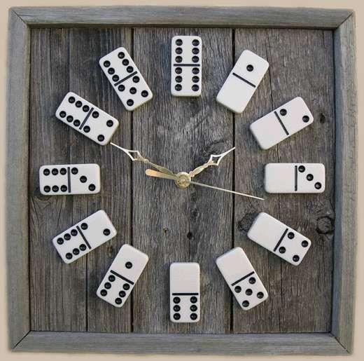 C mo hacer un reloj de pared con fichas de domin viejo for Fichas de domino