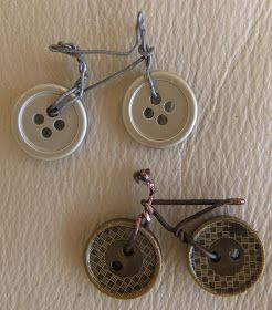 Broches de bicicletas con botones