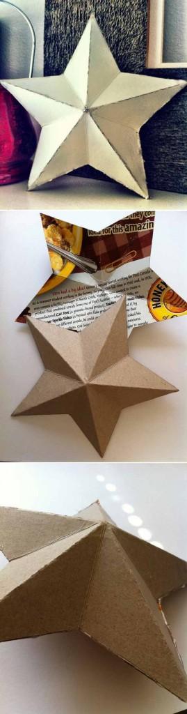 Cómo hacer estrella 3D navideña con cartón paso a paso