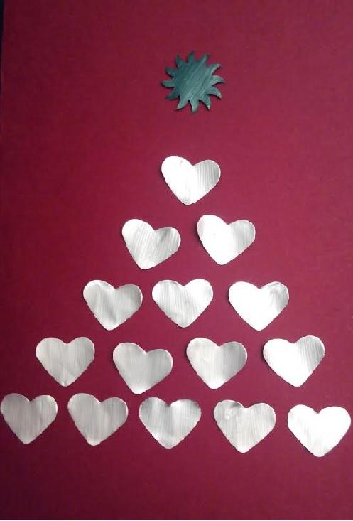 tarjeta de navidad con cpsulas nespresso