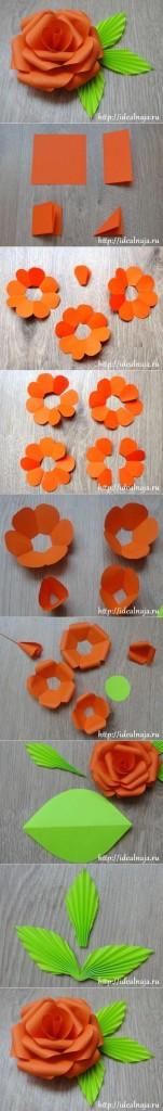 Cómo hacer flores con cartulinas y cartón paso a paso