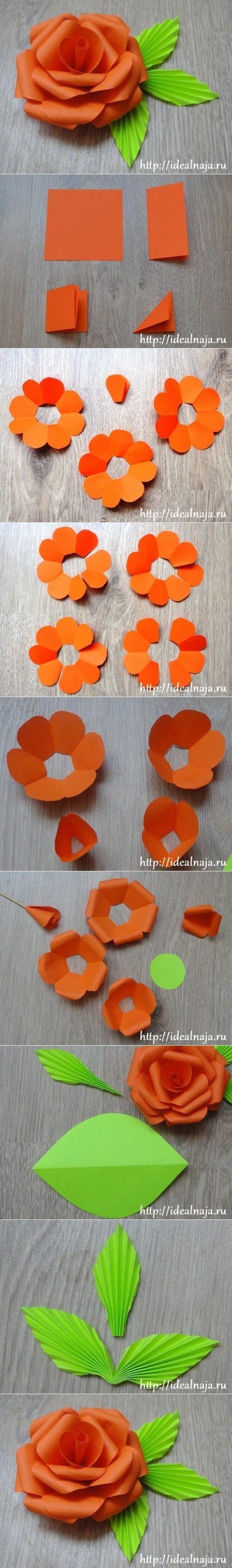 Flores con cartulinas y cartón