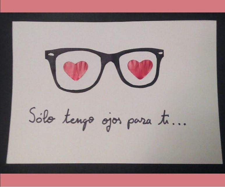 Tarjeta romántica San Valentin con nespresso