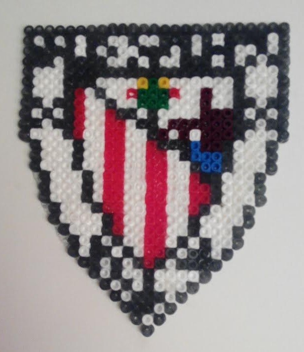 Escudo Athletic de Bilbao Club con hama beads midi