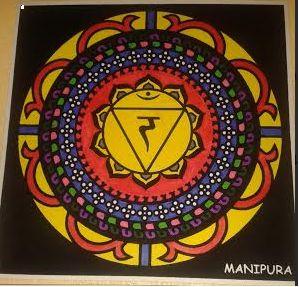 Mandala pintado Manipura tercer chakra