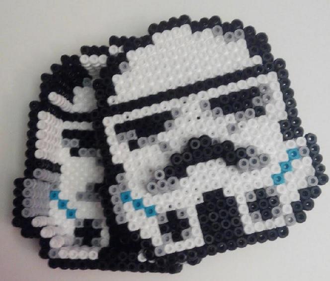 Caja de Clone Trooper de Star Wars con hamabeads