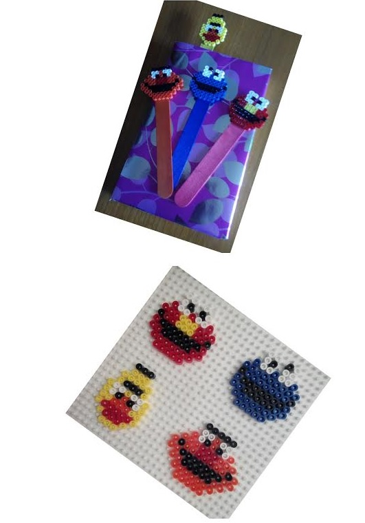 Epi, Blas, Elmo y el monstruo de las galletas de hama midi