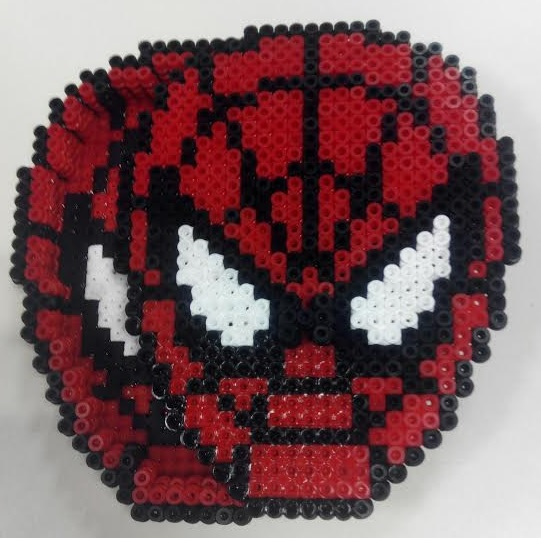 Caja de spiderman para guardar cosas de hama midi