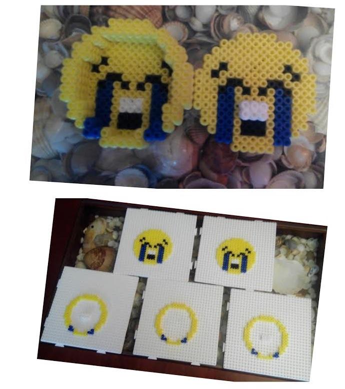 Piezas para formar la caja del emoji llorando de risa
