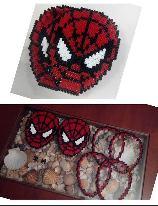 Piezas caja de Spiderman de hama beads midi