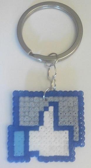"Llavero de Facebook ""Me Gustas"" de hamabeads mini"