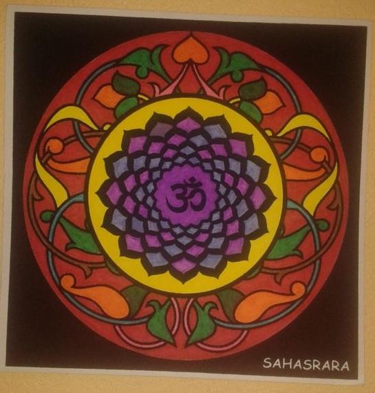 Mandala séptimo chakra Sahasrara el de la conciencia universal