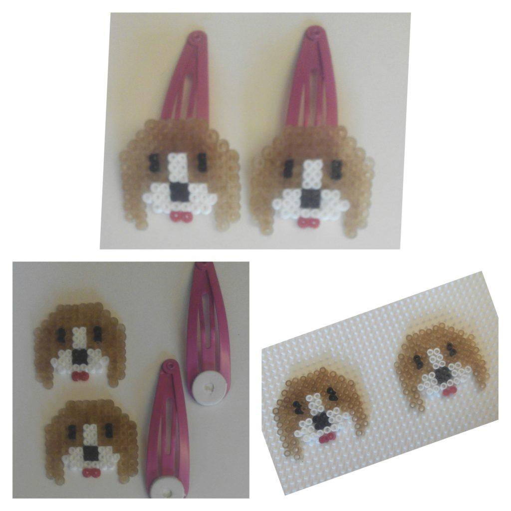 Piezas horquillas de perritos para niñas