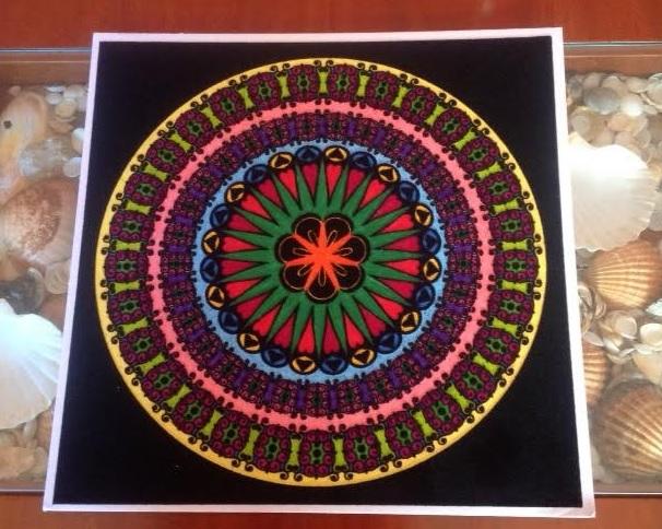 Mandala para la afectividad pintado con rotuladores