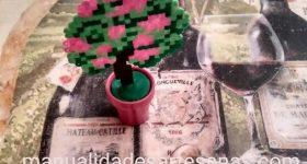 Mini arbusto de China de rosas para decoración de mesa de trabajo