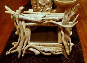 Espejo con madera de playa