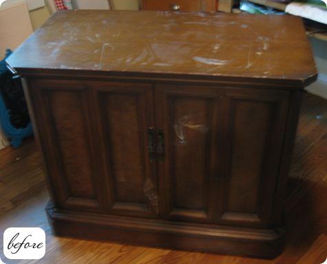 Antes y despu s nueva vida para muebles recuperados - Pintar un mueble viejo ...