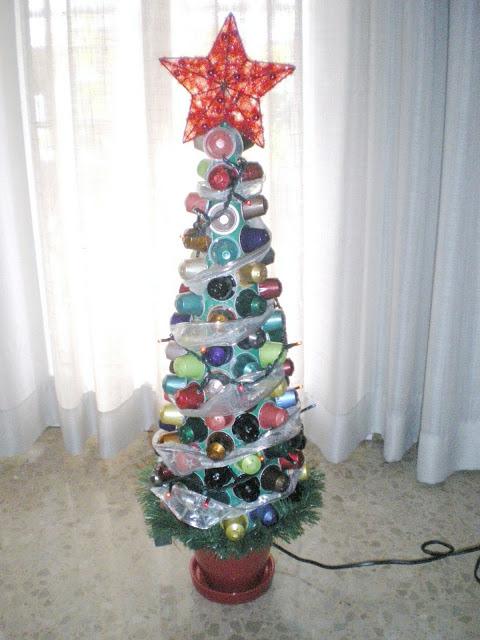 Árbol de Navidad cápsulas nespresso