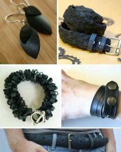 Cinturones con neumáticos reciclados